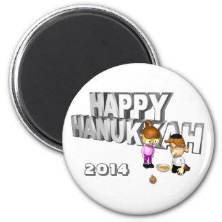Happy Hanukkah Celebration - Magnet