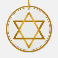 Happy Hanukkah Ceramic Ornament at Zazzle