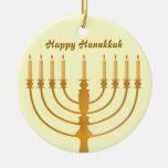Happy Hanukkah Ceramic Ornament