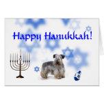 Happy Hanukkah Cesky Terrier Greeting Cards