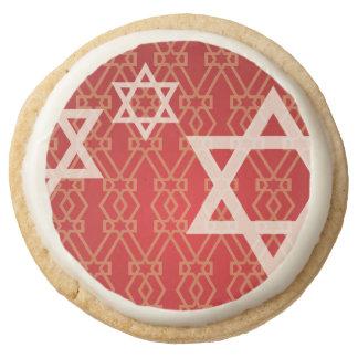 Happy Hanukkah - Chanukah Card Round Shortbread Cookie