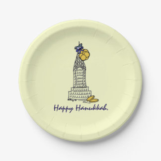 Happy Hanukkah Chanukah Gelt NYC Holiday Plates