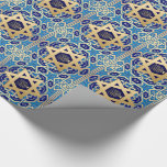 "Happy Hanukkah / Chanukah Gift Wrapping Paper<br><div class=""desc"">Happy Hanukkah. Star of David and Menorah Gold Foil Design Gift Wrapping Paper. Matching cards,  postage stamps and other products available in the Jewish Holidays / Hanukkah Category of our store.</div>"