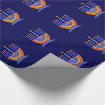 "Happy Hanukkah / Chanukah Gift Wrapping Paper<br><div class=""desc"">Happy Hanukkah! Happy Chanukah! Menorah Design Gift Wrapping Paper. Matching cards,  postage stamps and other products available in the Jewish Holidays / Hanukkah Category of our store.</div>"