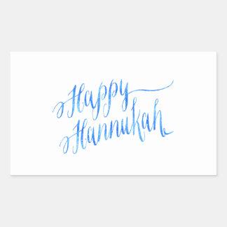 Happy Hanukkah Chanukah HANNUKKAH HANUKA Rectangular Sticker
