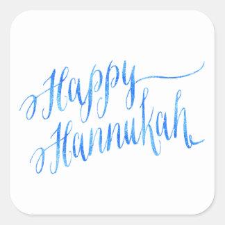 Happy Hanukkah Chanukah HANNUKKAH HANUKA Square Sticker