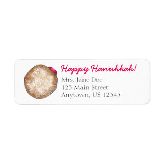 Happy Hanukkah Chanukah Jelly Donut Address Labels