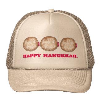 Happy Hanukkah Chanukah Jelly Donut Doughnut Hat