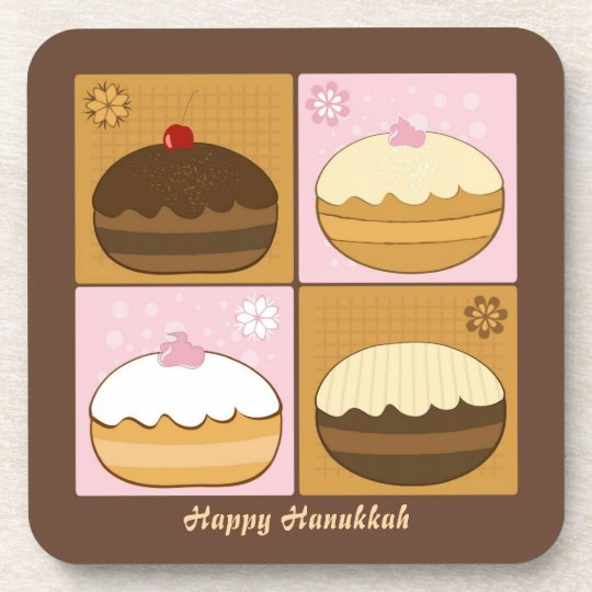 Happy Hanukkah Coaster