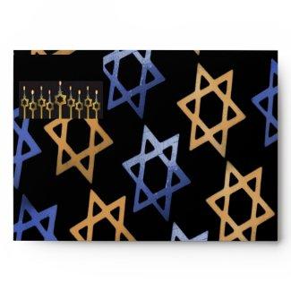 Happy Hanukkah! Custom Envelope Dark Template envelope