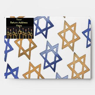 Happy Hanukkah! Custom Envelope Template Sobres