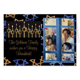 Happy Hanukkah! Custom PhotoCard Template Card