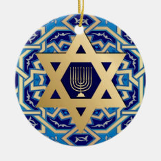 Happy Hanukkah! Custom Year Ornaments at Zazzle