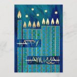 "Happy Hanukkah. Customizable Greeting Cards<br><div class=""desc"">Happy Hanukkah! Menorah Candles and Star of David Design Customizable Hanukkah Greeting Cards / Hanukkah Celebration Invitations with personalized text. Matching cards,  postage stamps and other products available in the Jewish Holidays / Hanukkah Category of our store.</div>"
