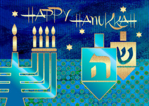 Hanukkah cards zazzle happy hanukkah customizable greeting cards m4hsunfo