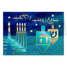 Happy Hanukkah. Customizable Greeting Cards at Zazzle