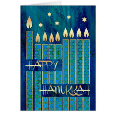 Happy Hanukkah. Customizable Greeting Cards at Zazzle