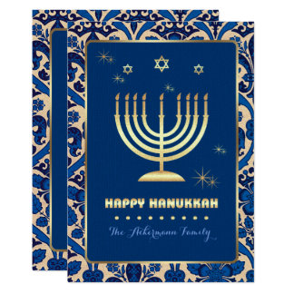 Happy Hanukkah. Customizable Greeting Cards