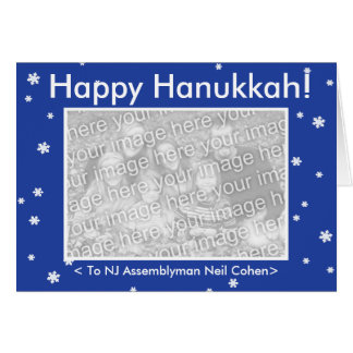 HAPPY HANUKKAH! Customizable My Dog Votes Card