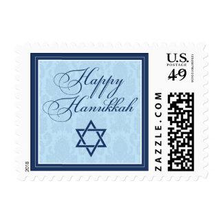 Happy Hanukkah Damask Holiday Postage