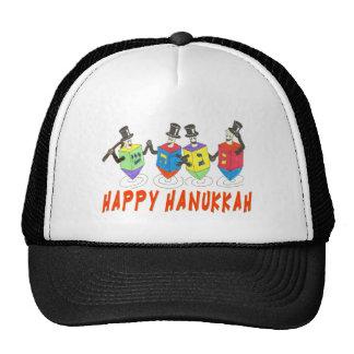HAPPY HANUKKAH DANCING DREIDELS GIFTS TRUCKER HAT