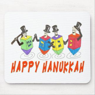 Happy Hanukkah Dancing  Dreidels Mouse Pad