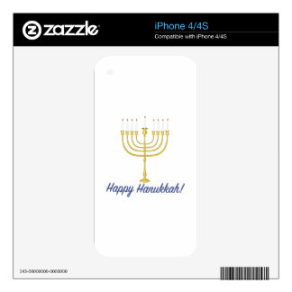 Happy Hanukkah Decals For iPhone 4S