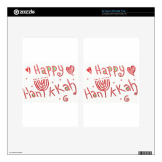 Happy Hanukkah! Decals For Kindle Fire