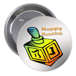 Happy Hanukkah - Dreidel Button