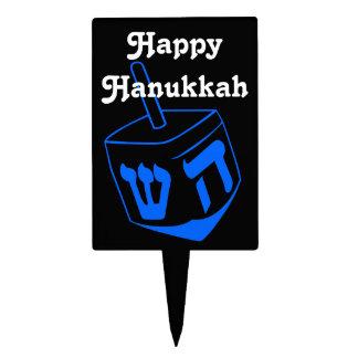 happy hanukkah dreidel cake topper