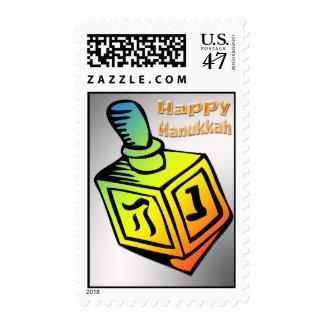 Happy Hanukkah - Dreidel Postage