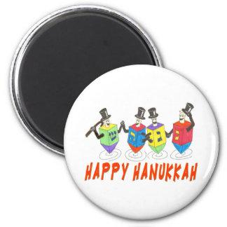 Happy Hanukkah dreidels magnet
