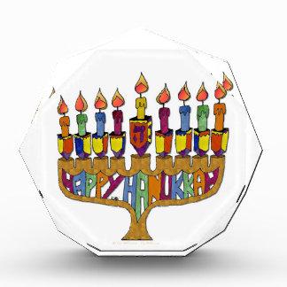 Happy Hanukkah Dreidels Menorah Acrylic Award