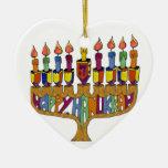 Happy Hanukkah Dreidels Menorah Christmas Tree Ornament