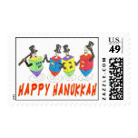 Happy Hanukkah Dreidels postage stamp