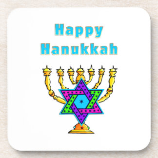 Happy Hanukkah Drink Coaster