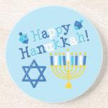 Happy Hanukkah Drink Coasters