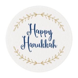 Happy Hanukkah Edible Frosting Rounds