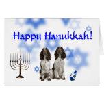 Happy Hanukkah English Springer Spaniel Card