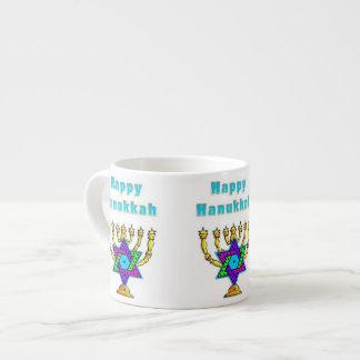 Happy Hanukkah Espresso Cup