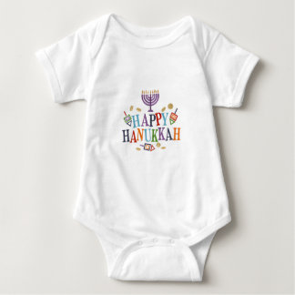 Happy Hanukkah Festive design Baby Bodysuit