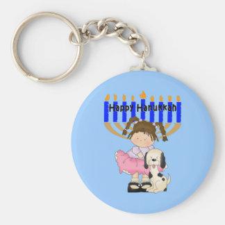 Happy Hanukkah Friends Basic Round Button Keychain