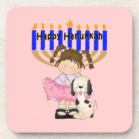 Happy Hanukkah Friends Beverage Coaster