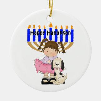 Happy Hanukkah Friends Ceramic Ornament