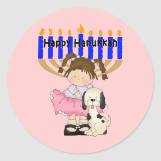 Happy Hanukkah Friends Classic Round Sticker