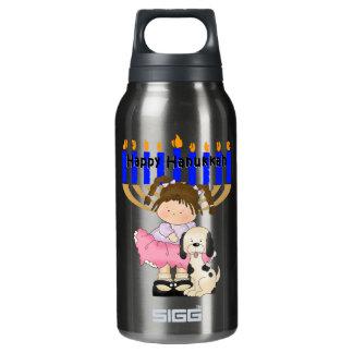 Happy Hanukkah Friends Insulated Water Bottle