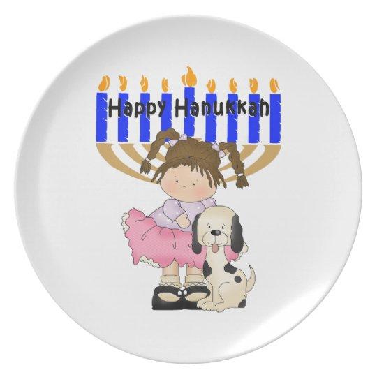 Happy Hanukkah Friends Melamine Plate