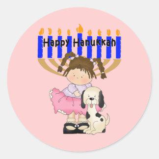 Happy Hanukkah Friends Round Sticker