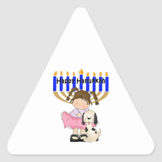 Happy Hanukkah Friends Triangle Sticker