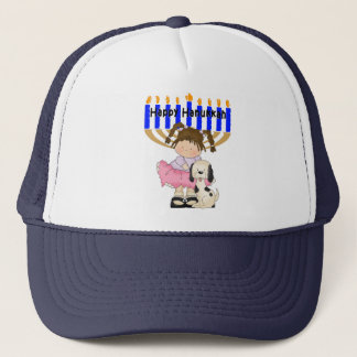 Happy Hanukkah Friends Trucker Hat